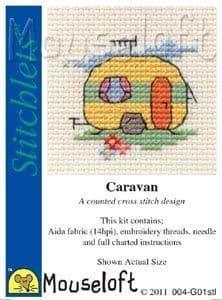 Mouseloft Caravan Stitchlets cross stitch kit